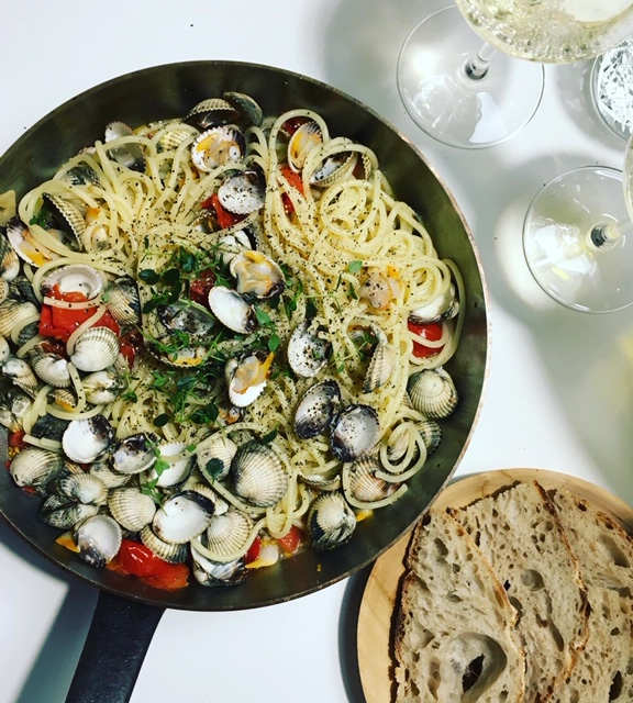 Hurmausruokaa, Spaghetti alle Vongole